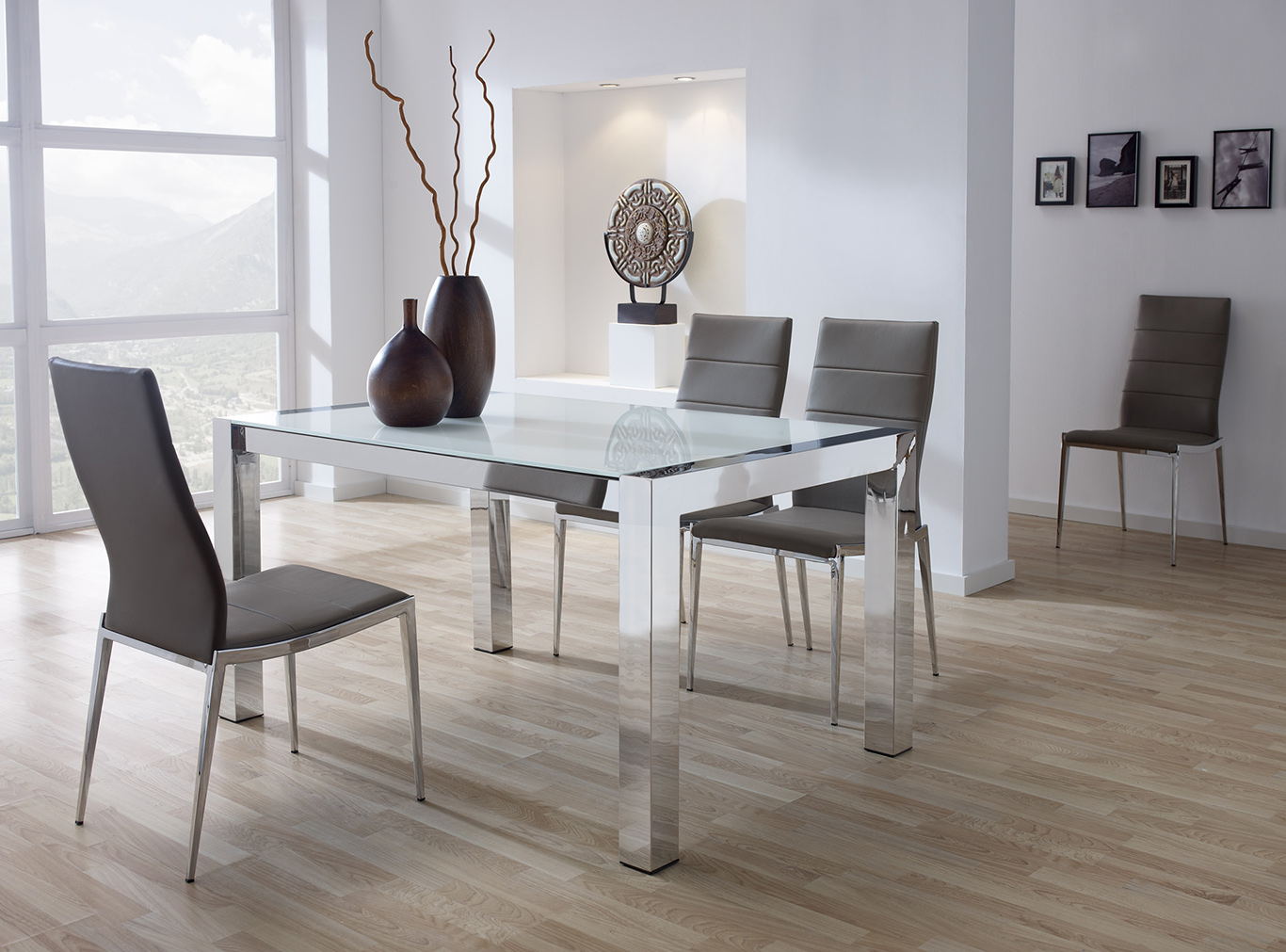 Mesas de comedor modernas for Mesas y sillas para comedor